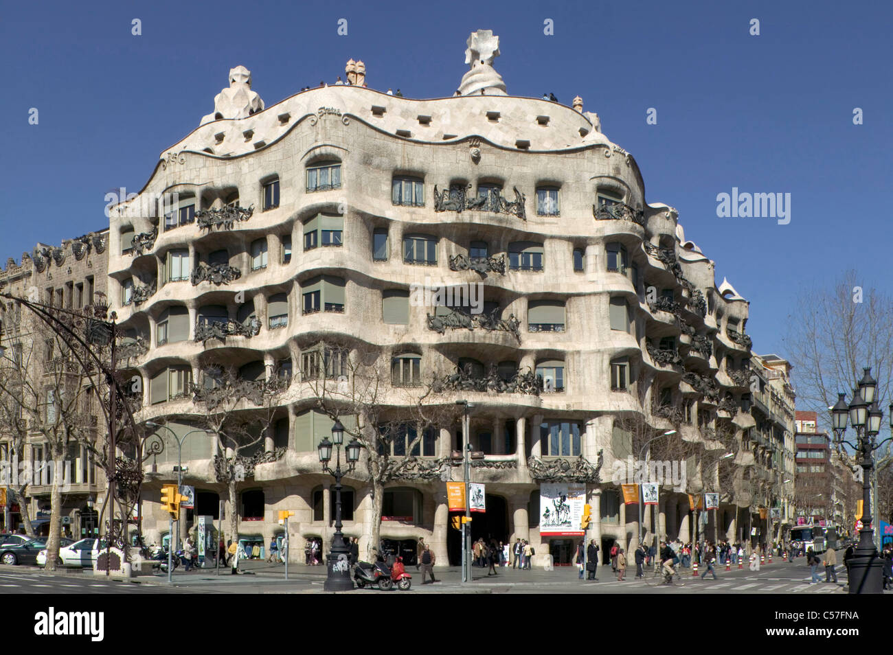 la pedrera casa mila barcelona spain 1906 1912 stock. Black Bedroom Furniture Sets. Home Design Ideas