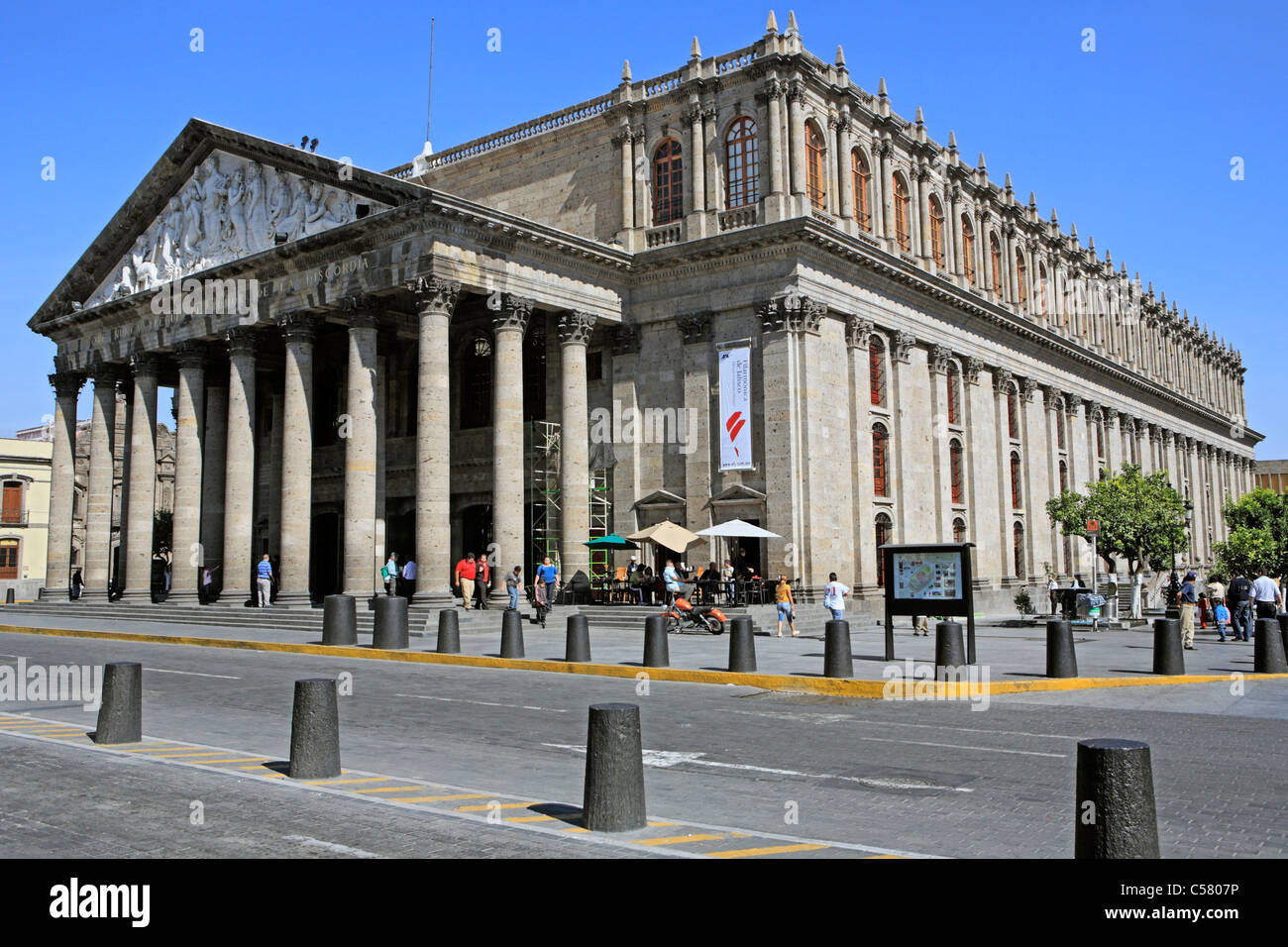 Central America Central American Architecture House Building Stock Photo