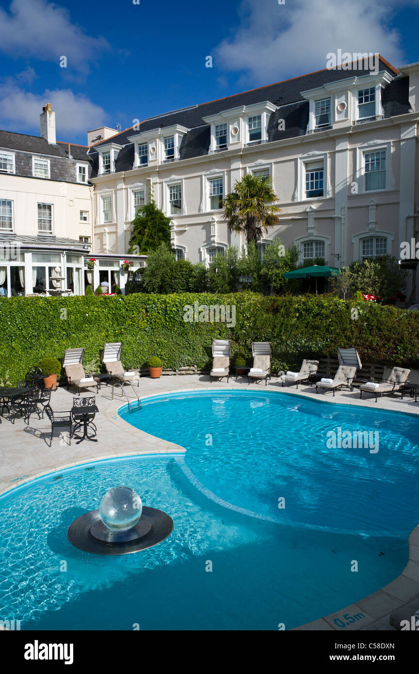 Outdoor Swimming Pool In Garden Of Old Government House Hotel St Stock Photo Royalty Free Image