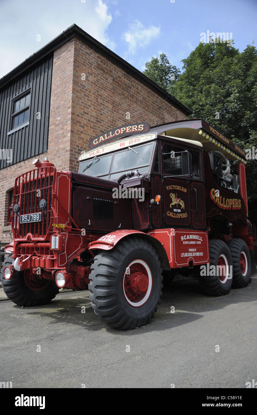 Old 19th century Scammel truck power generator for fairground rides ...