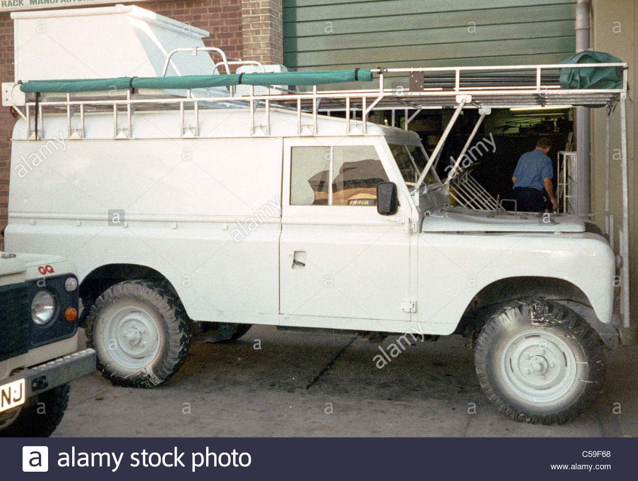 Camping Equipment Used By Explorer Kypros In Africa   Land Rover  Preparation ... Custom Roof Rack Fitted