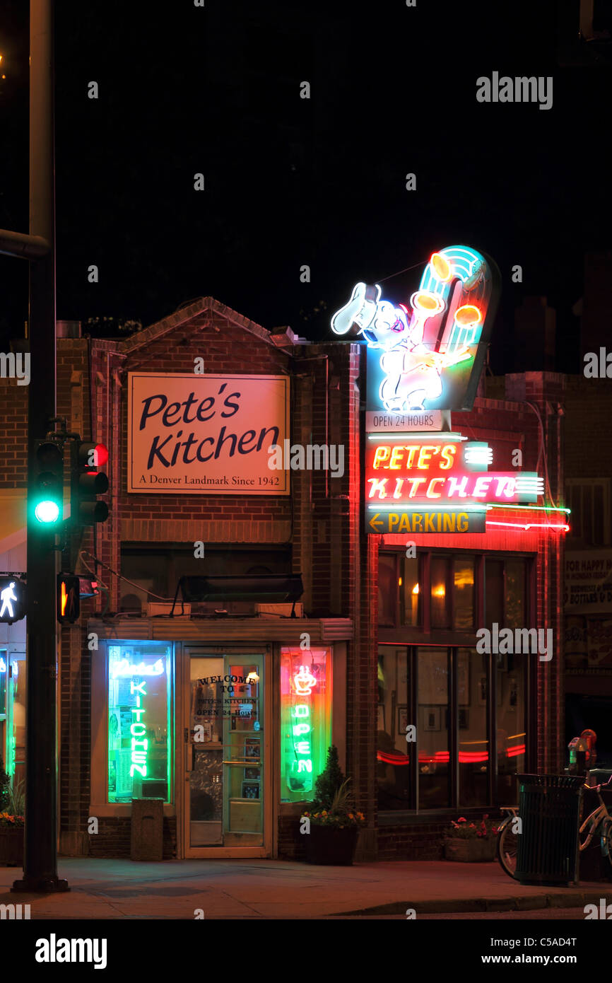 Denver, Colorado - Pete\'s Kitchen on East Colfax has been serving ...