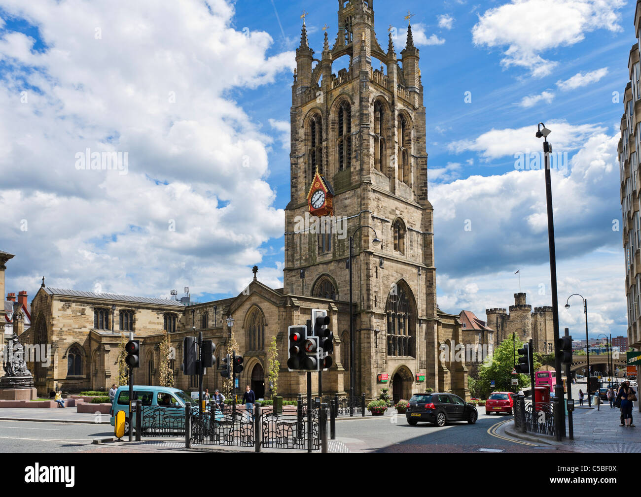 The Cathedral Church of St Nicholas and view down St ...