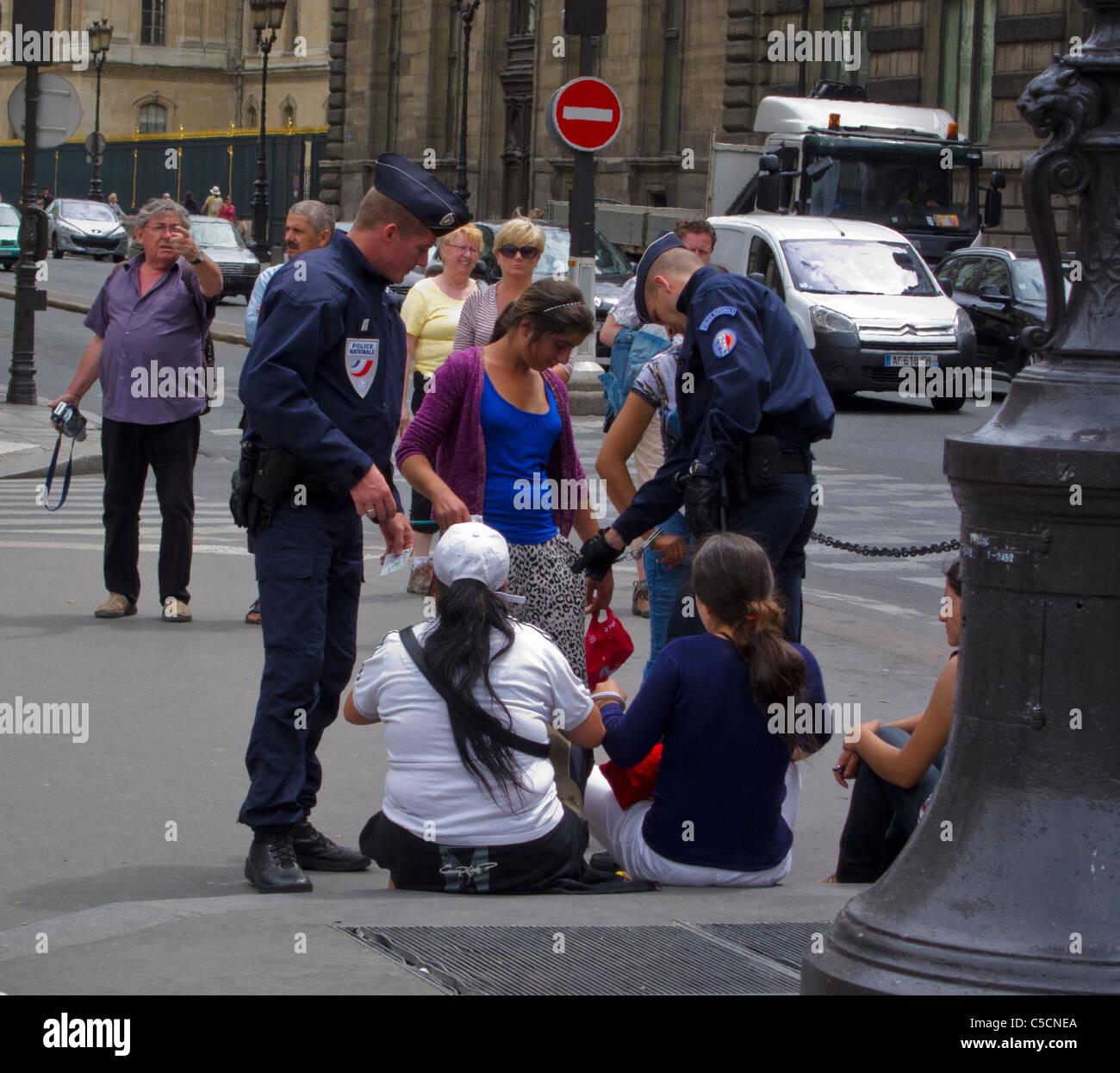 Paris, France, Street Scenes, Palais Royale, Police ...