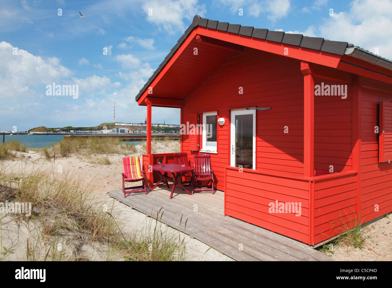 colourful bungalows used as holiday homes on the small island 39 the stock photo royalty free. Black Bedroom Furniture Sets. Home Design Ideas