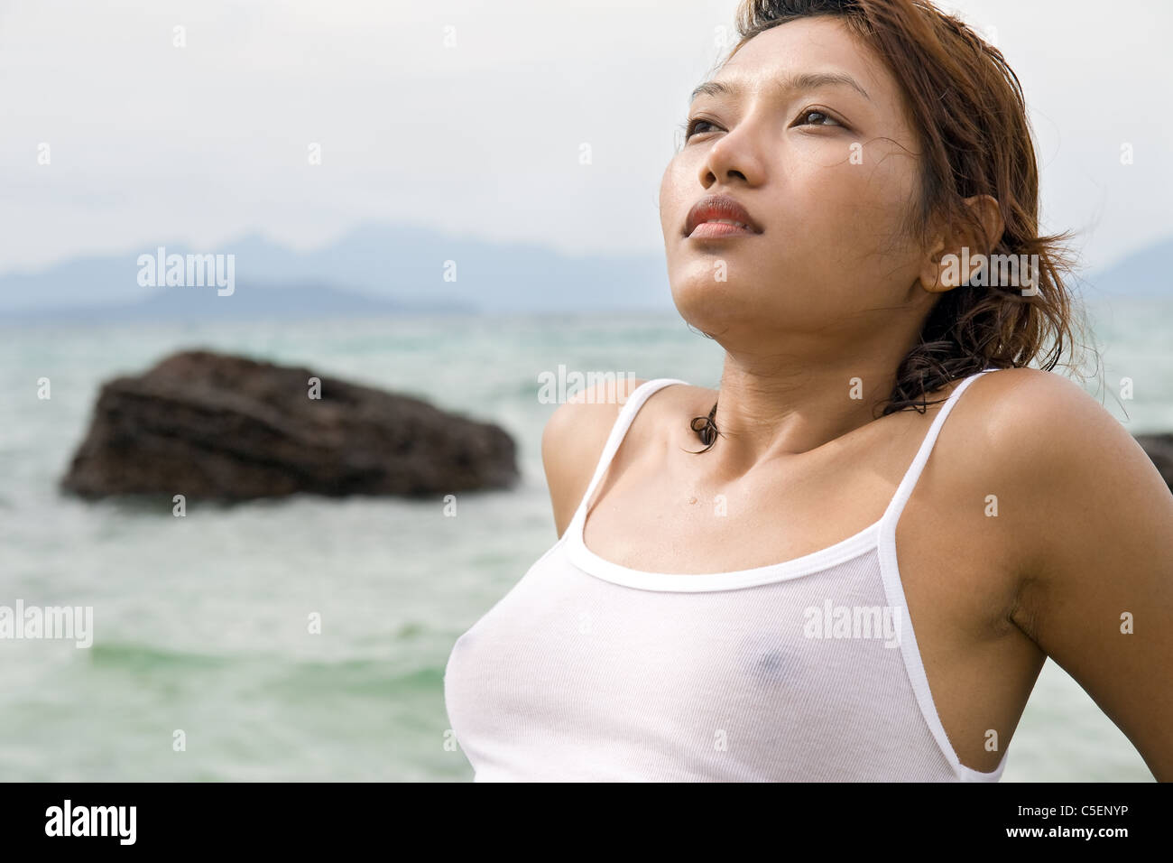 Asian girls in wet t shirts