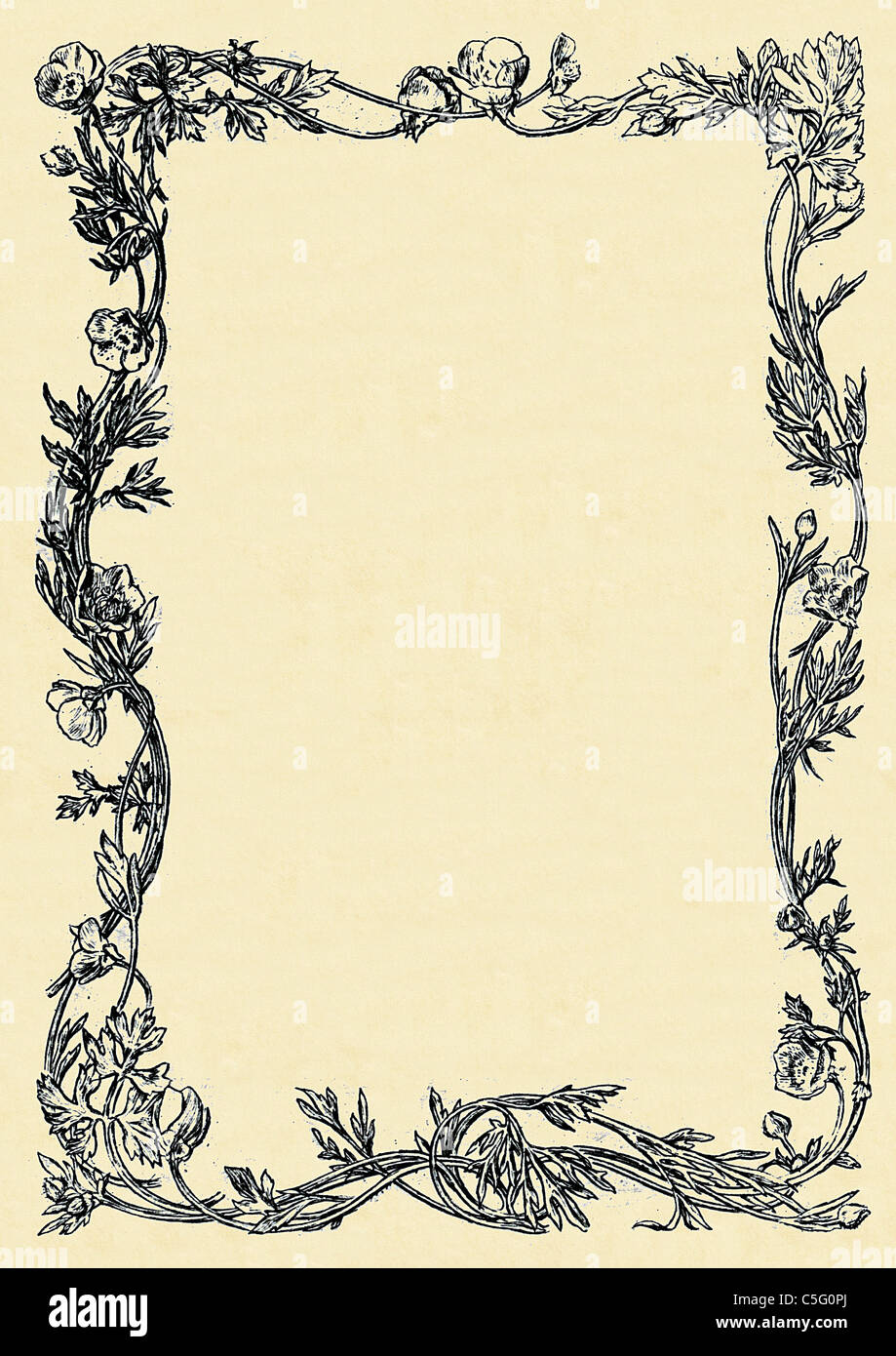 vintage decorative border design 5 from an antiquarian