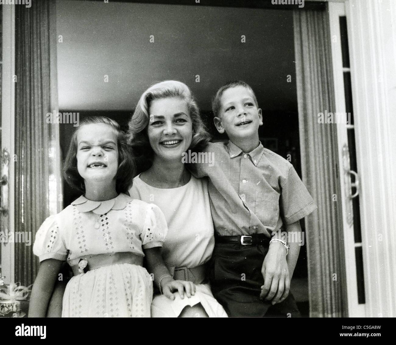LAUREN BACALL about 1955 with her children by Humphrey ... Lauren Bacall Children