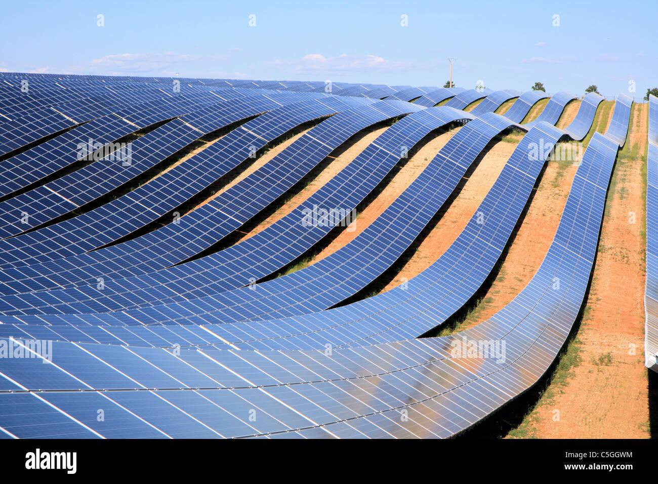 Gigantic solar farm in provence les m es france stock for Solar ranch