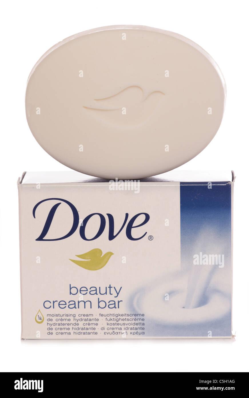 Stock Photo - dove beauty cream bar soap studio cutout