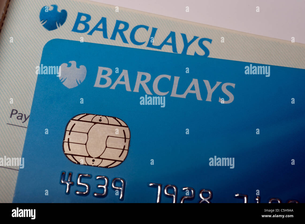 Barclays debit card and cheque book stock photo royalty for Barclay business card