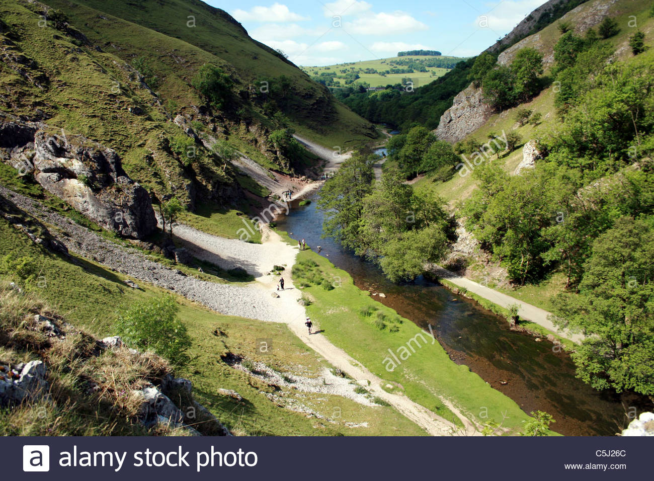 Dovedale Peak District Staffordshire England Stock Photo