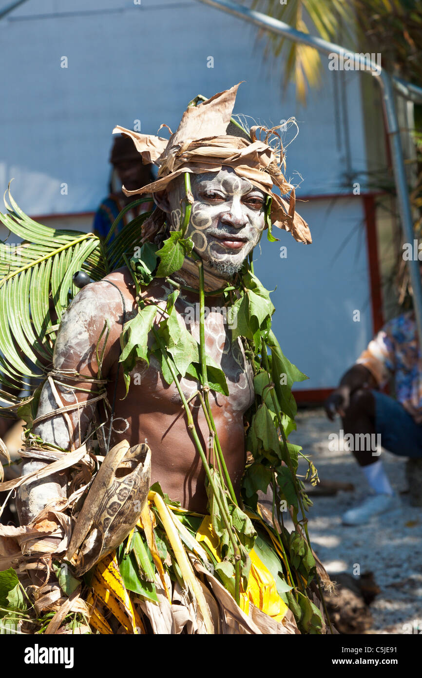 Man Dressed In Native Tribal Costume Performs For Cruise Ship - Cruise ship costume