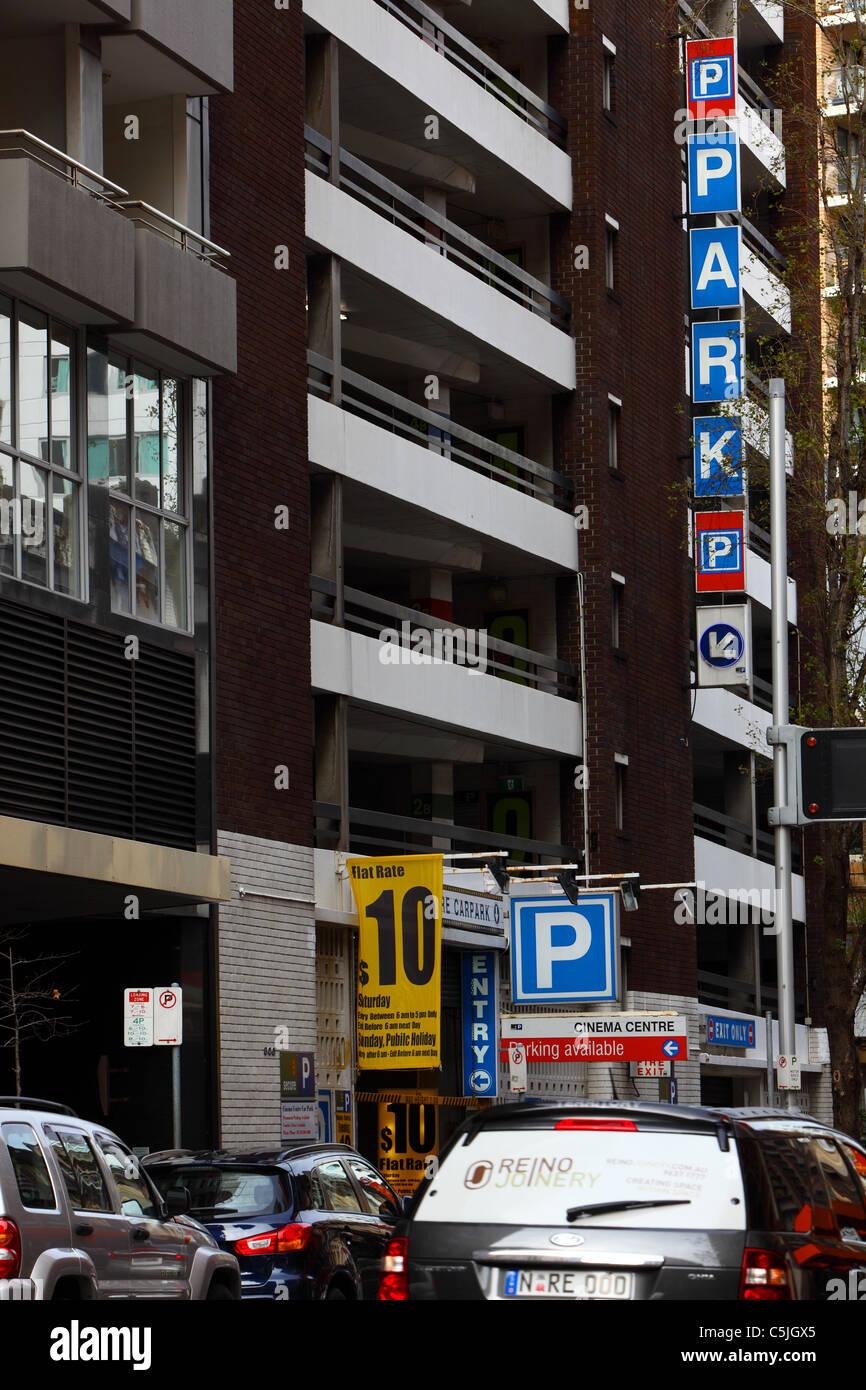 Car Park Entrance In Sydney Cbd Central Business District Sydney Australia