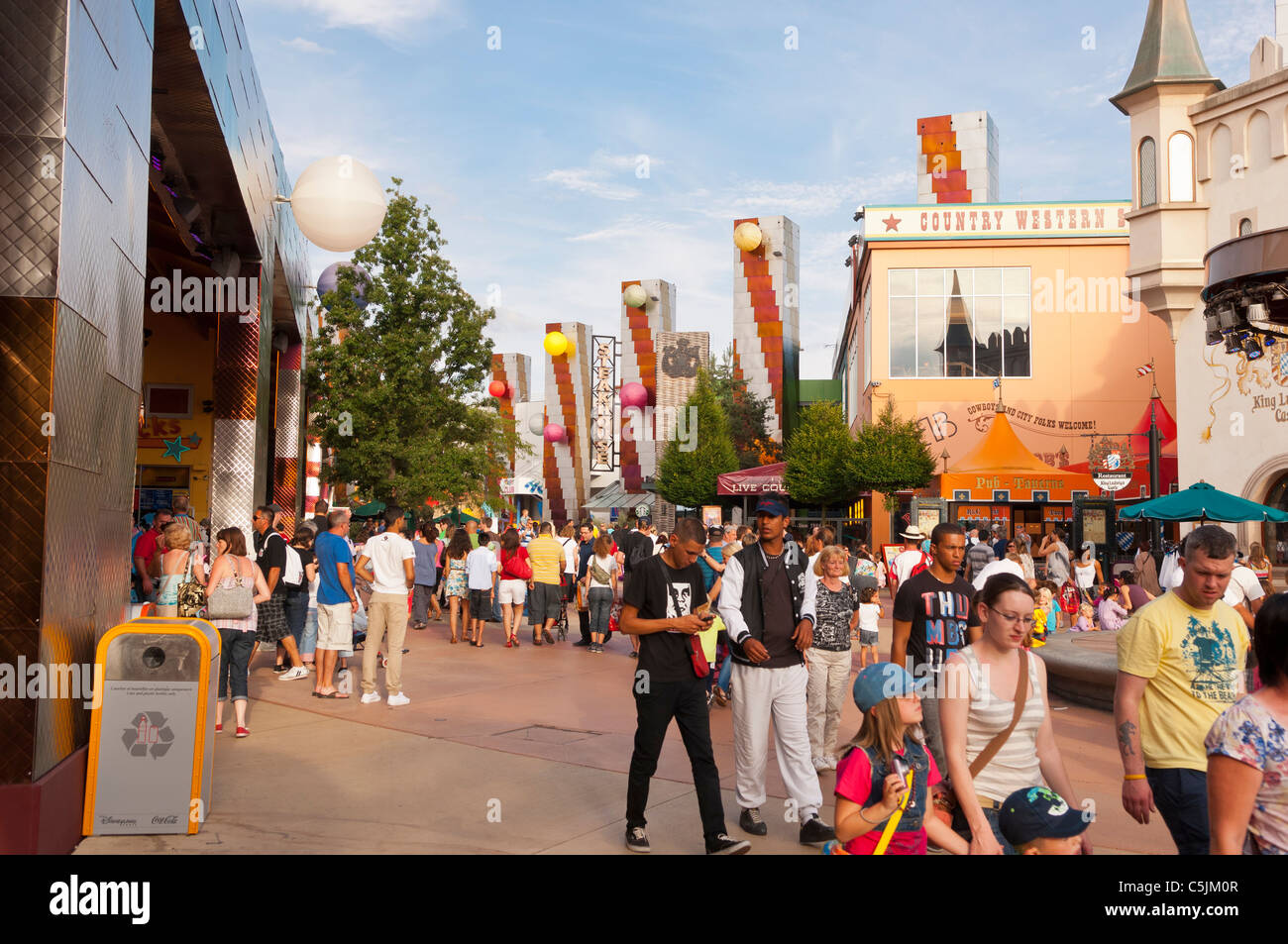 people in disney village at disneyland paris in france stock photo royalty free image 37904855. Black Bedroom Furniture Sets. Home Design Ideas