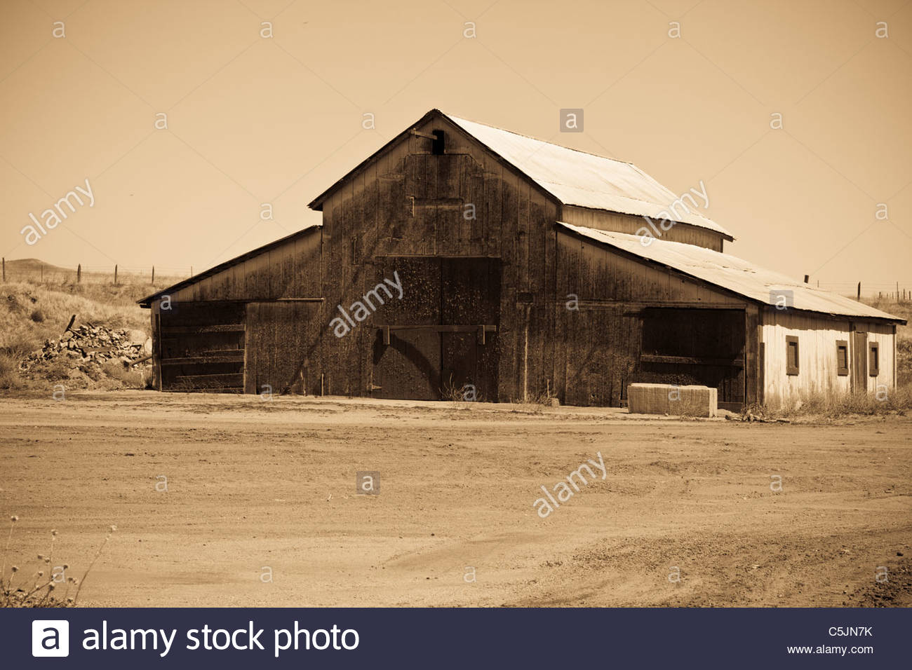 Old Rustic Looking Barn On A Farm In Salinas Valley California USA