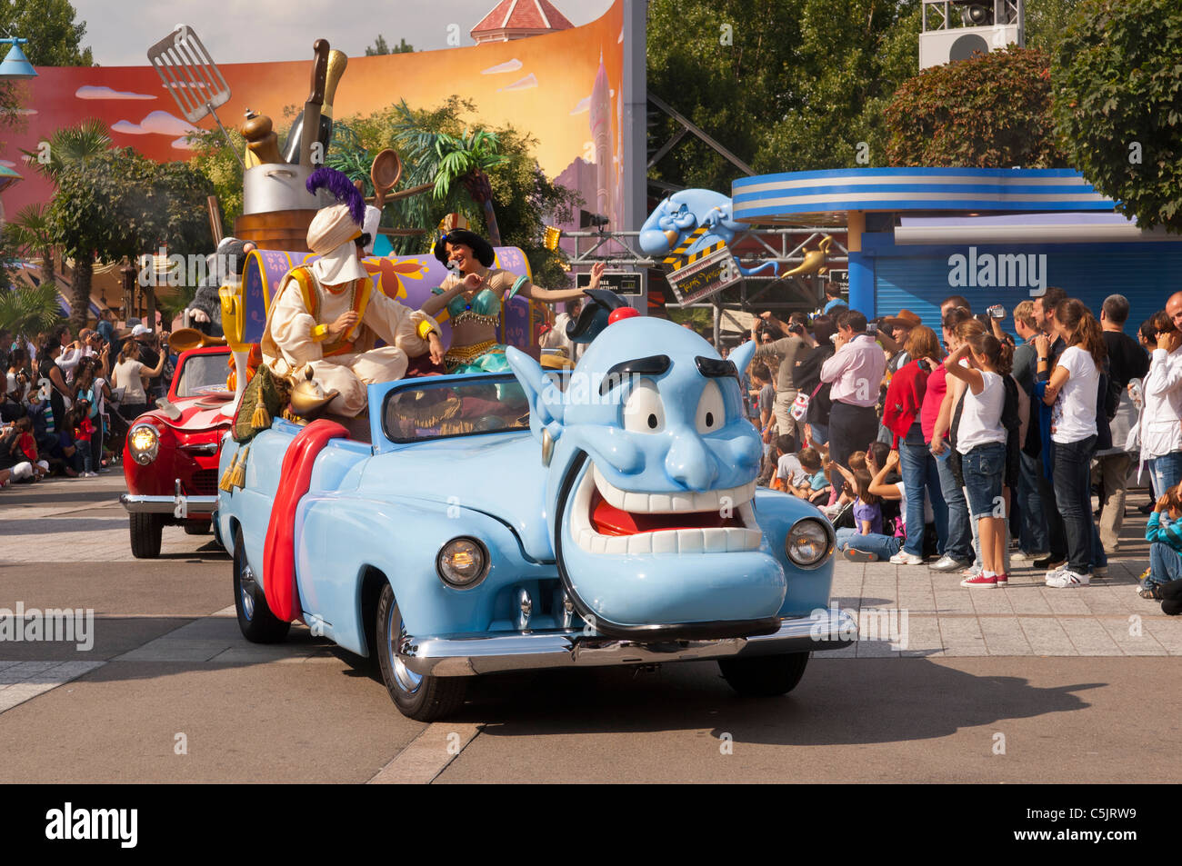 The Stars \'n\' Cars parade with Alladin at Disneyland Paris in ...