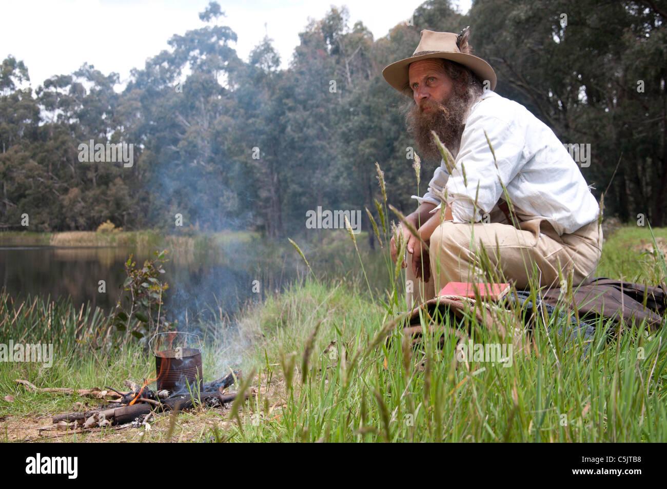 An Australian Bushman Stock Photo Royalty Free Image