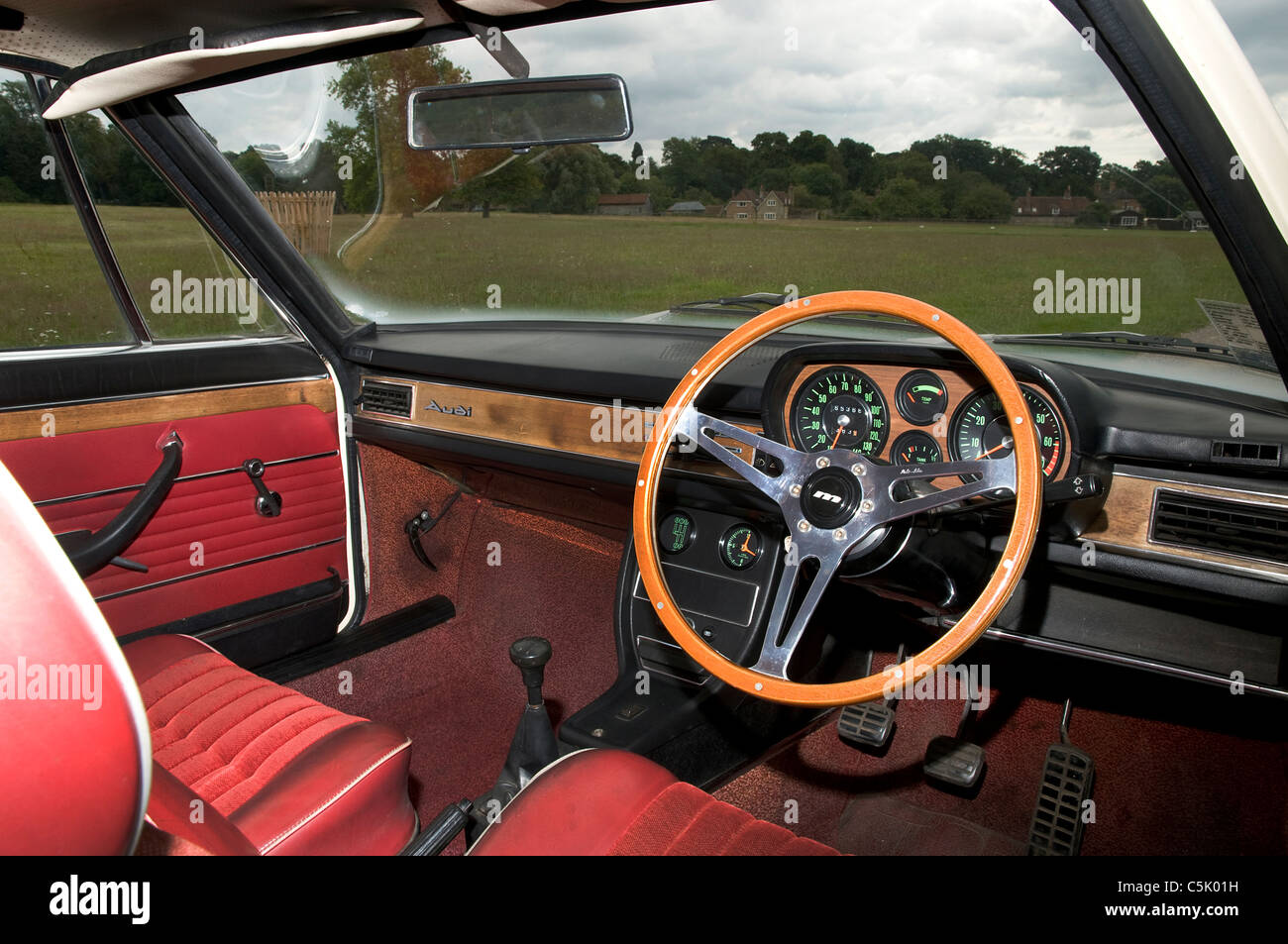audi 100 coupe s 1973 interior stock photo 37911149 alamy. Black Bedroom Furniture Sets. Home Design Ideas