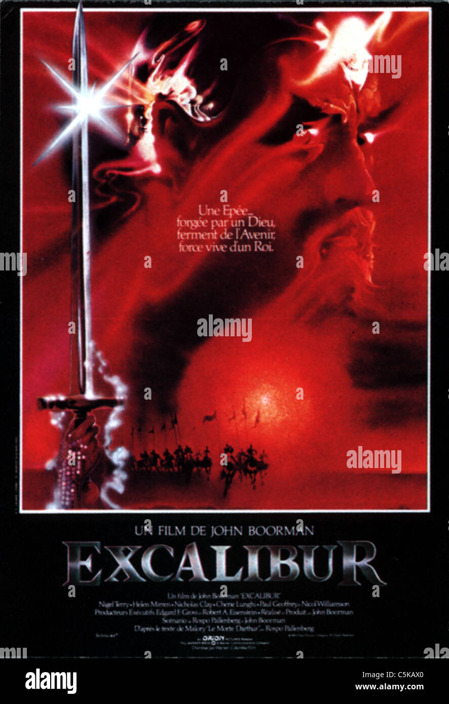 excalibur year 1981 usa affiche poster director john