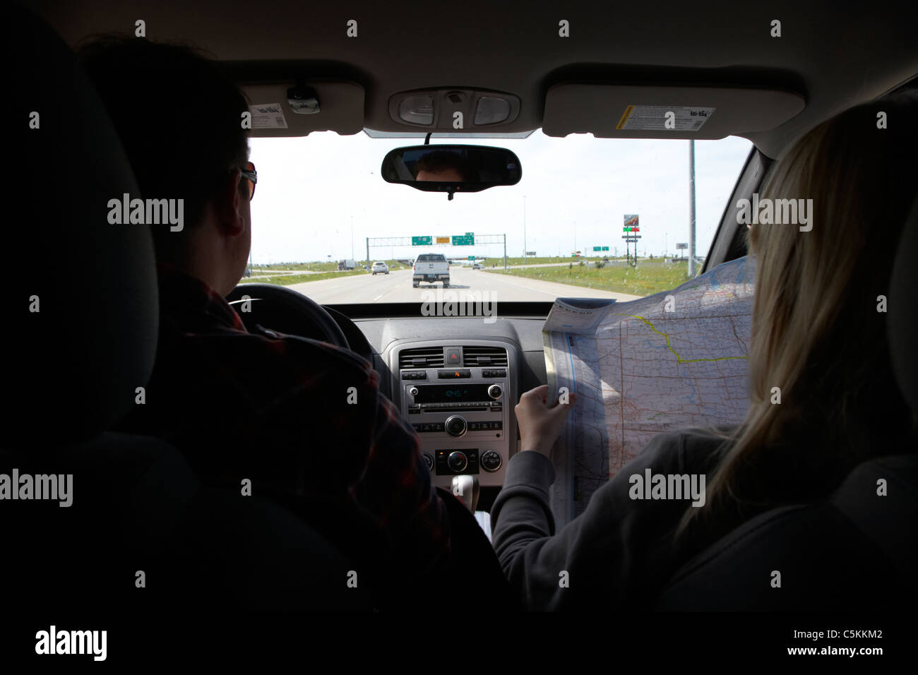 Couple Driving Suv Crossover Car Vehicle On The Highway With Woman - Us map pictures of couple