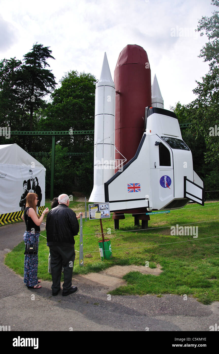 reliant robin space shuttle world of top gear beaulieu new forest stock photo royalty free. Black Bedroom Furniture Sets. Home Design Ideas