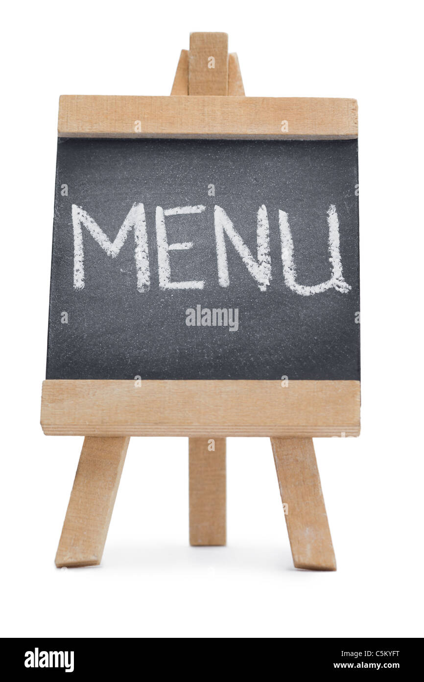 Chalkboard with the word menu written on it Stock Photo, Royalty ...