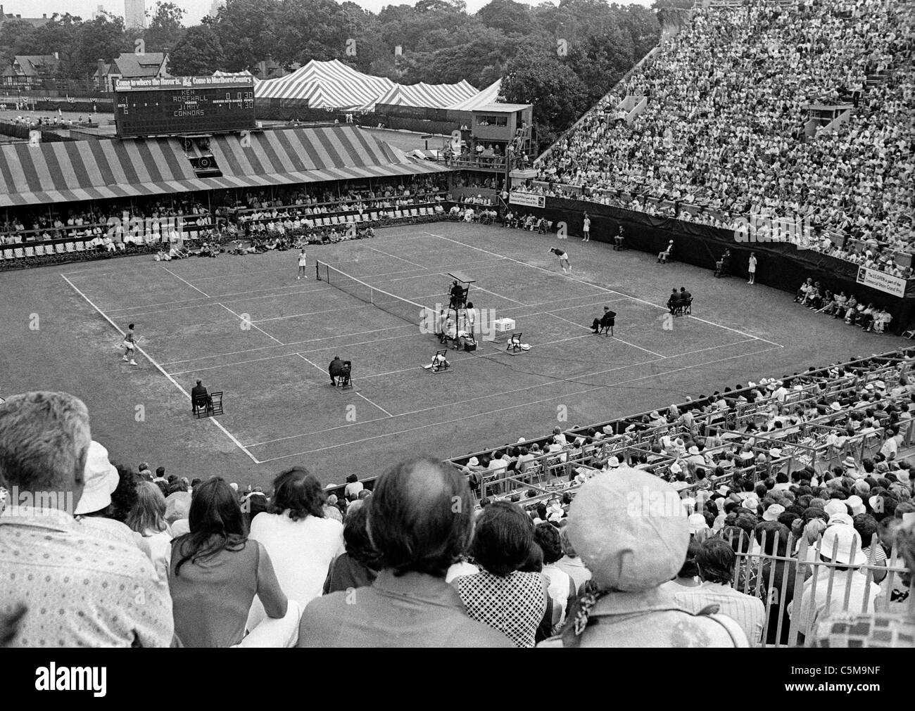 Spectators Tennis Black and White Stock s & Alamy