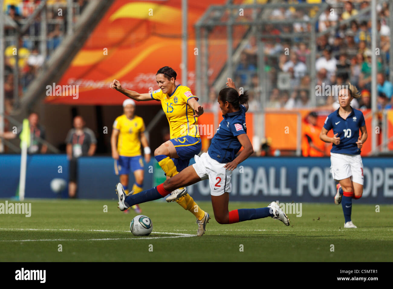 Wendy renard interview - Wendie Renard Of France 2 Tries To Tackle The Ball From Therese Sjogran Of
