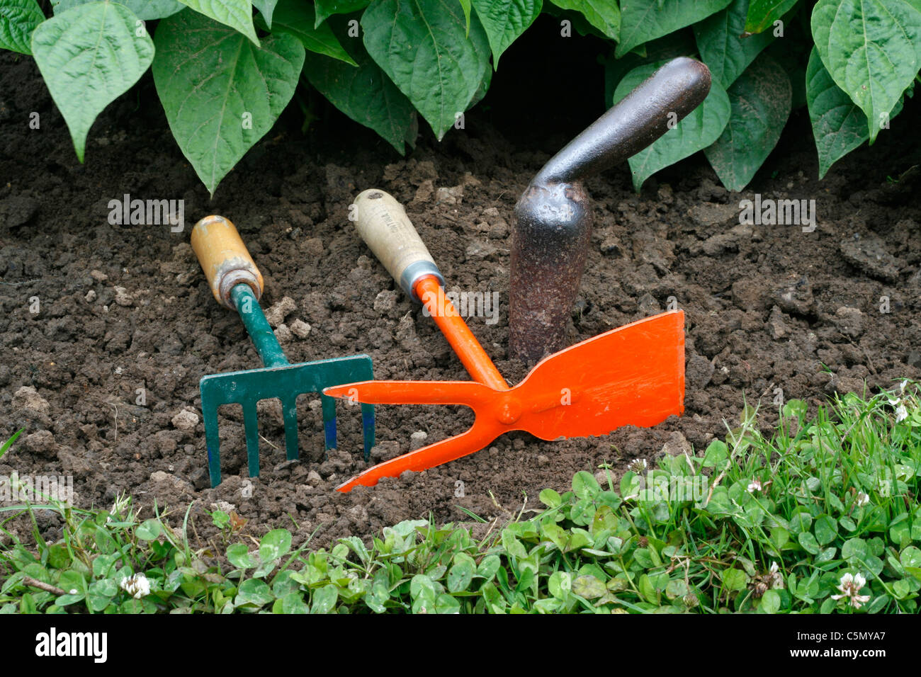 Small Garden Tools A Small Rake Small Garden Hoe