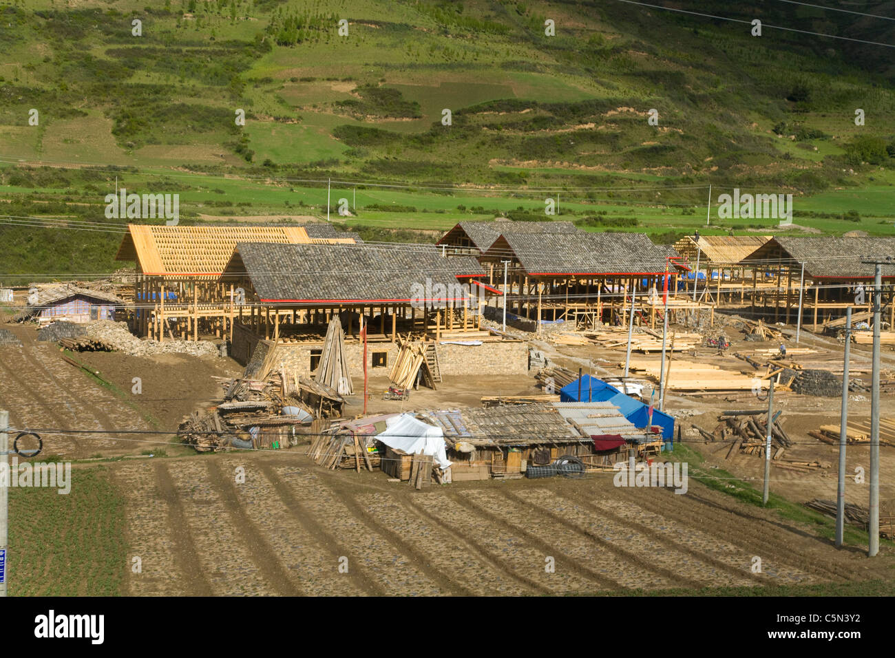 New Chinese Workers Homes House Houses Under Construction In - Location of china