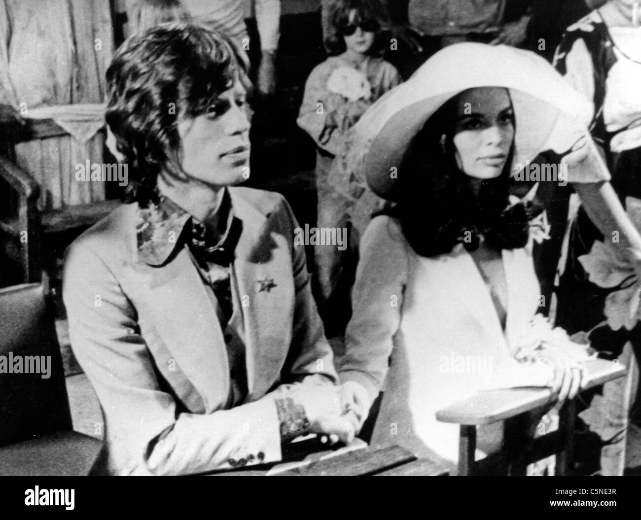 wedding mick jagger and bianca jagger 70 stock photo