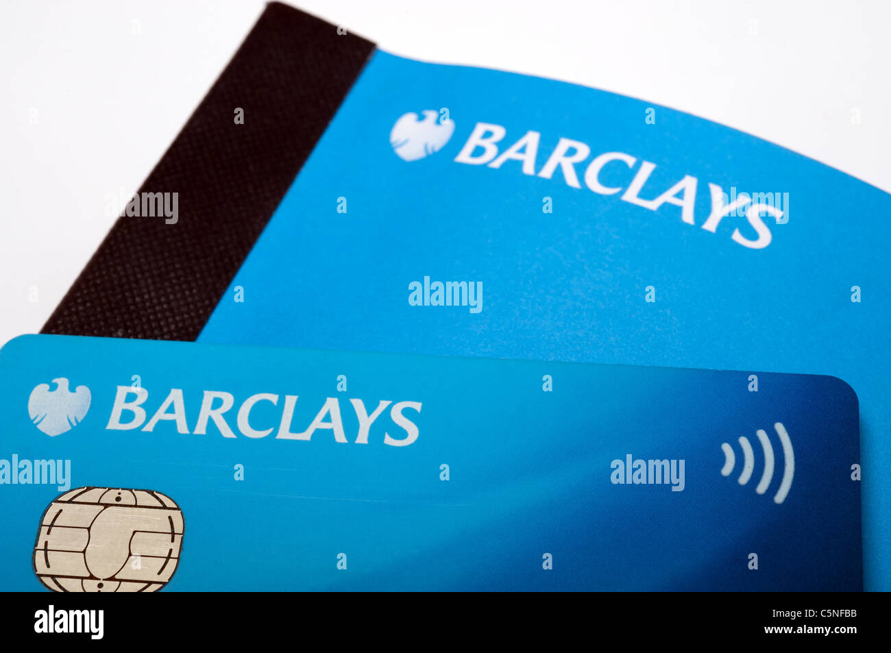 Barclays debit card and cheque book Stock Photo, Royalty Free ...