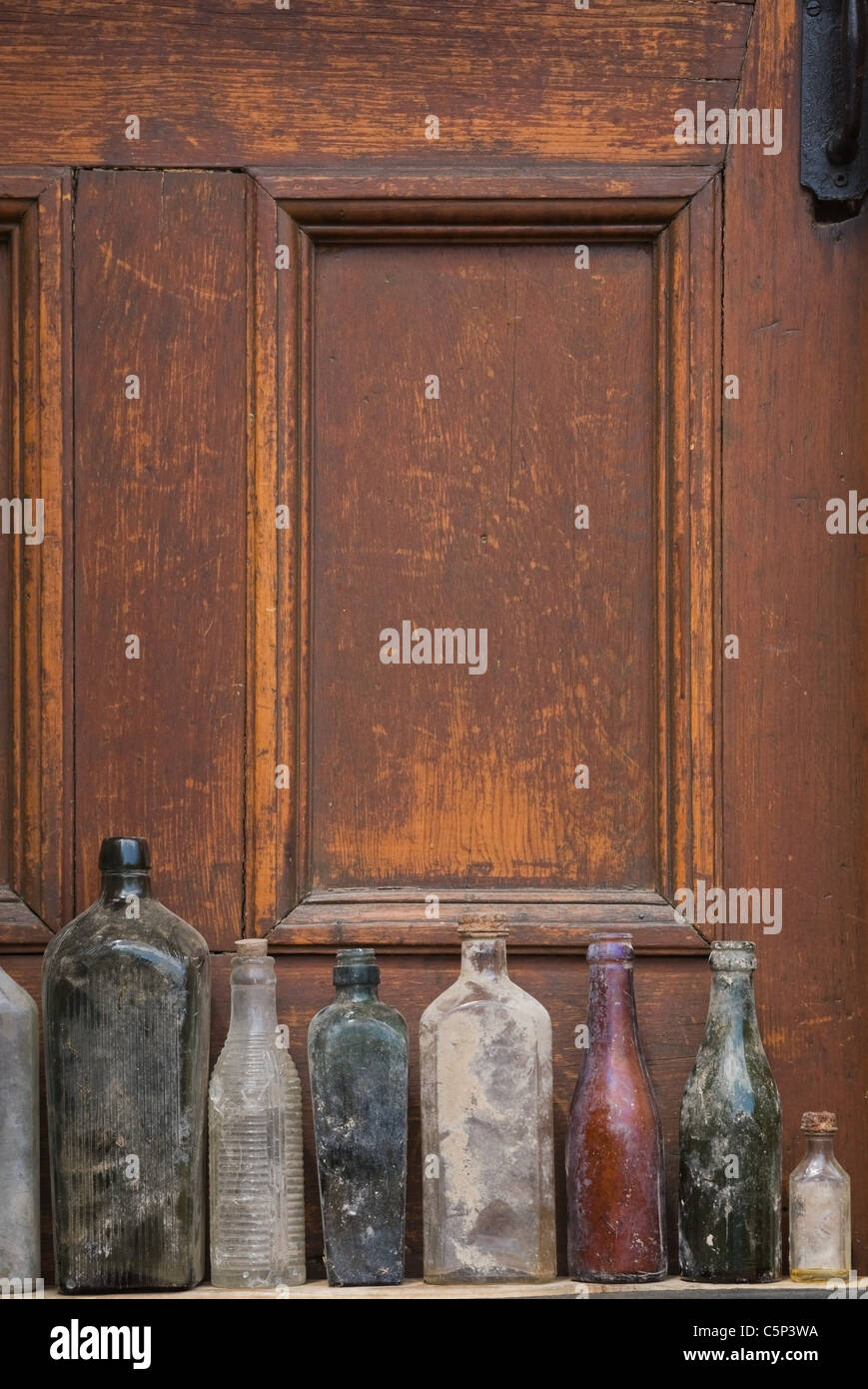 Old Glass Bottles Part - 48: Old Glass Bottles In A Row