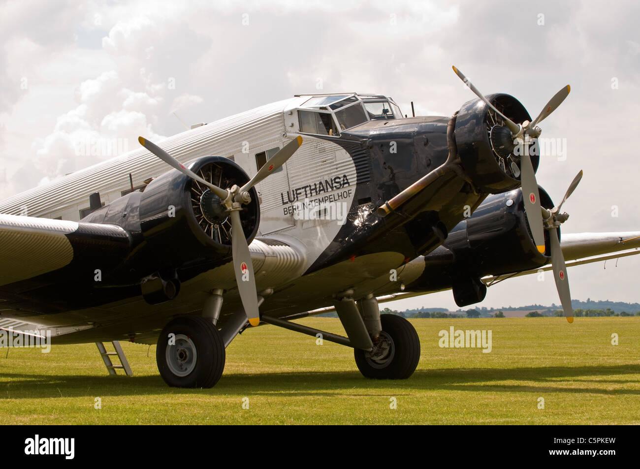 Junkers Berlin vintage aircraft junkers ju52 3m berlin tempelhof luftansa stock photo royalty free image
