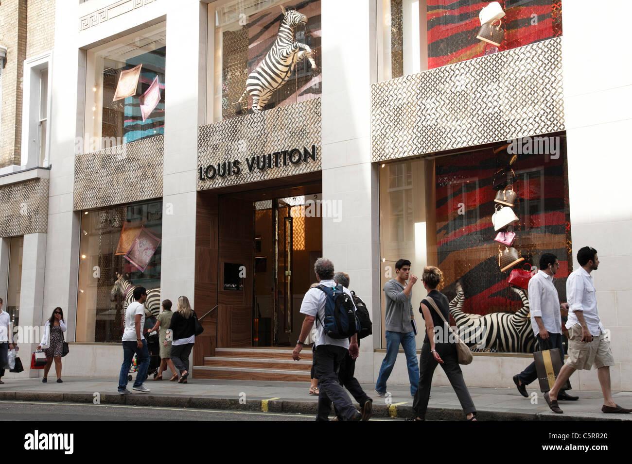 A Louis Vuitton store on New Bond Street, London, England ...