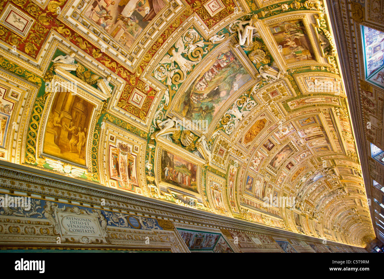 Italy Rome Vatican City Museum Gallery of maps ceiling