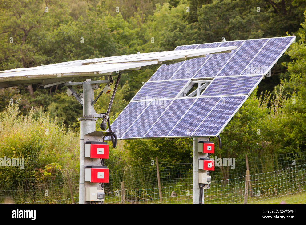 A tracking solar photo voltaic panel system at the off grid ...