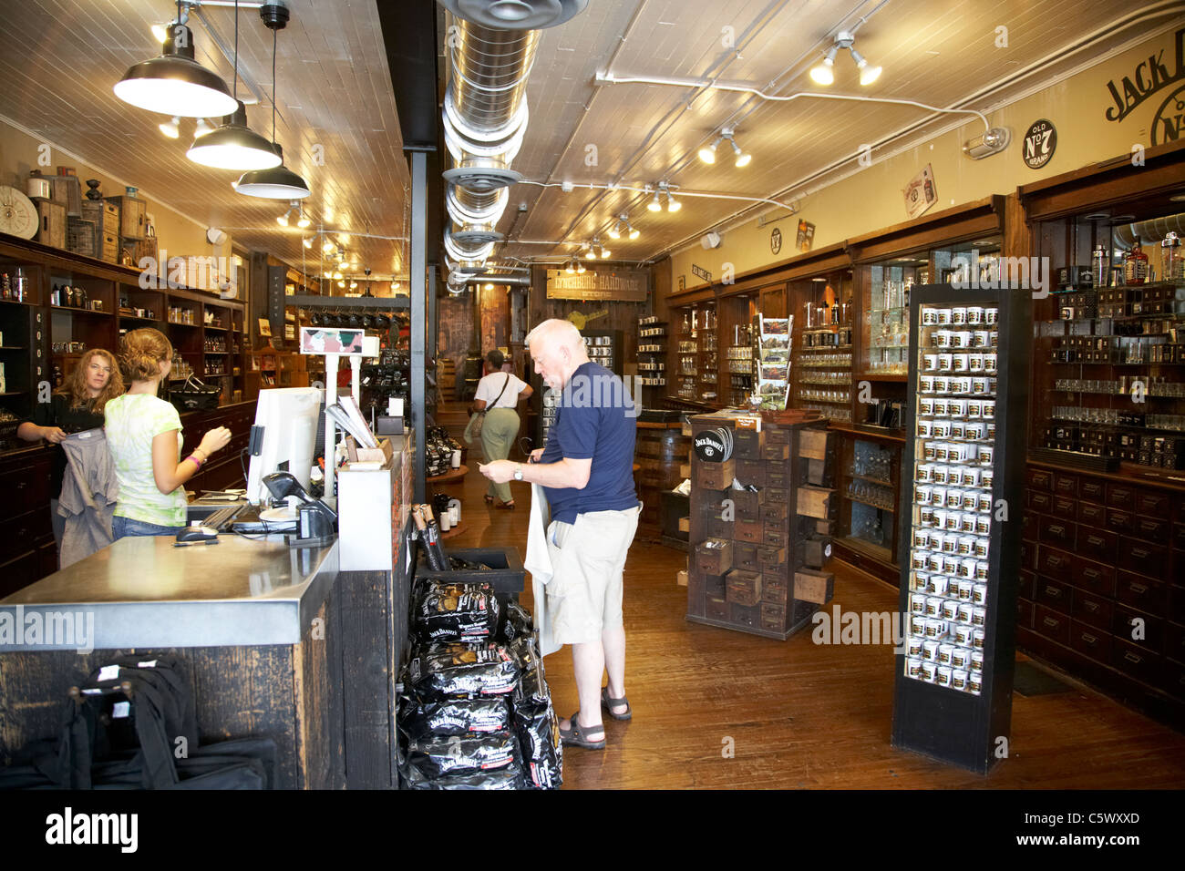 interior of jack daniels hardware store souvenir and gift shop ...