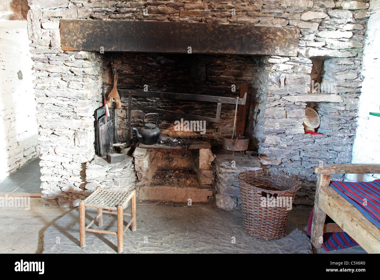 Old Fashioned Outdoor Fireplace