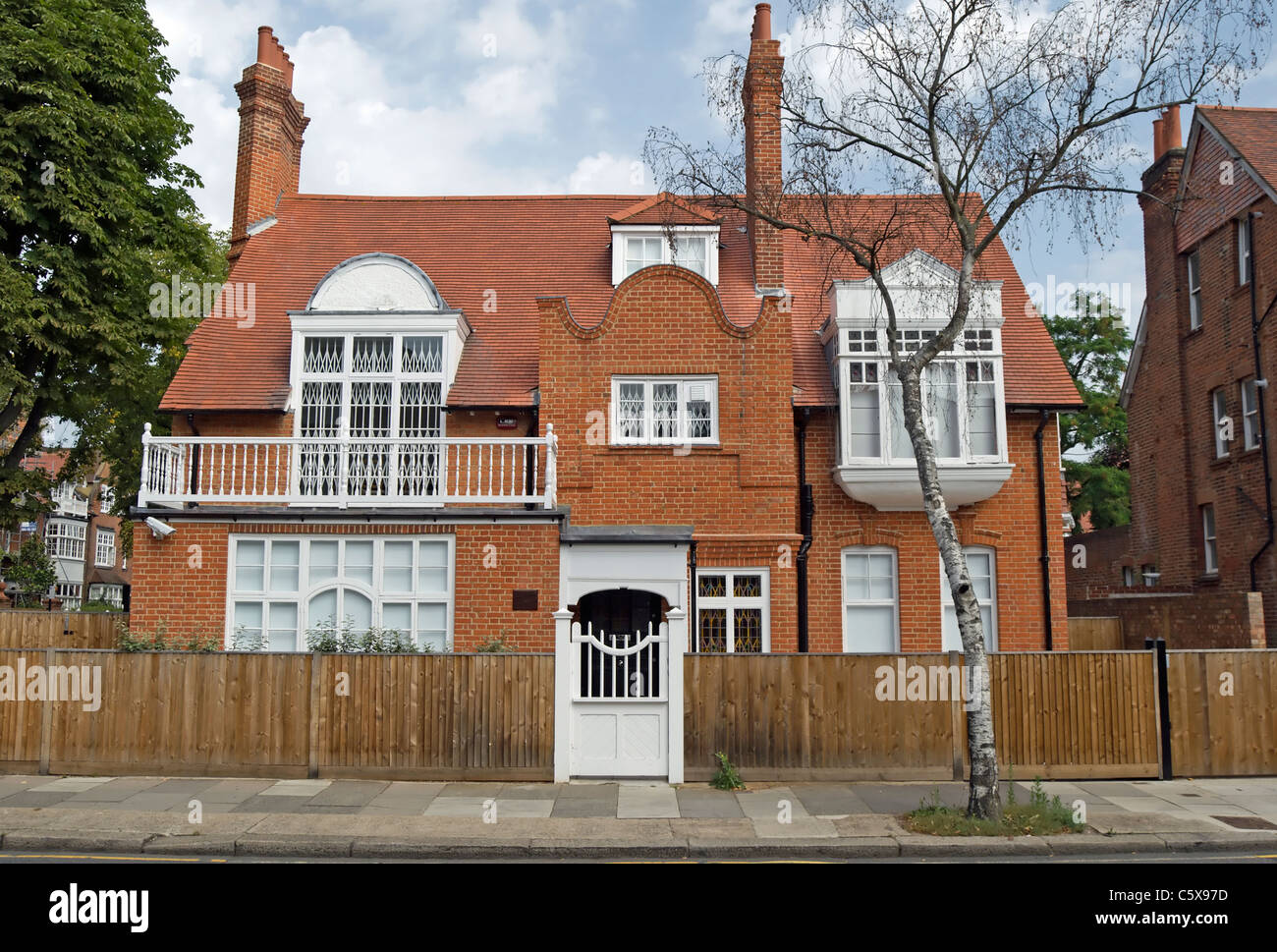 A 19th Century House In Bedford Park Chiswick London England With