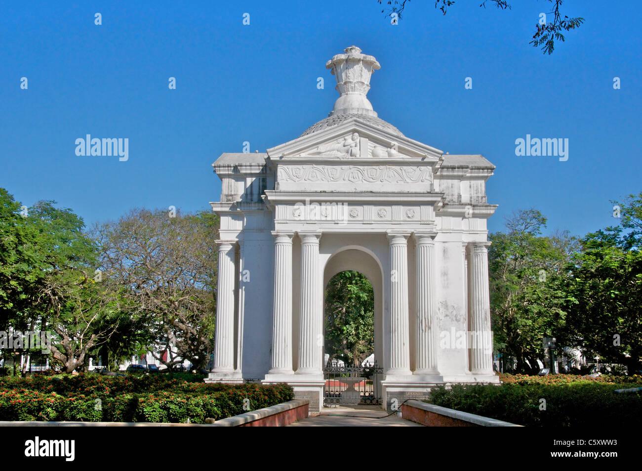 Pondicherry Park Monument Aayi Mandapam on Bharathi Parks at India
