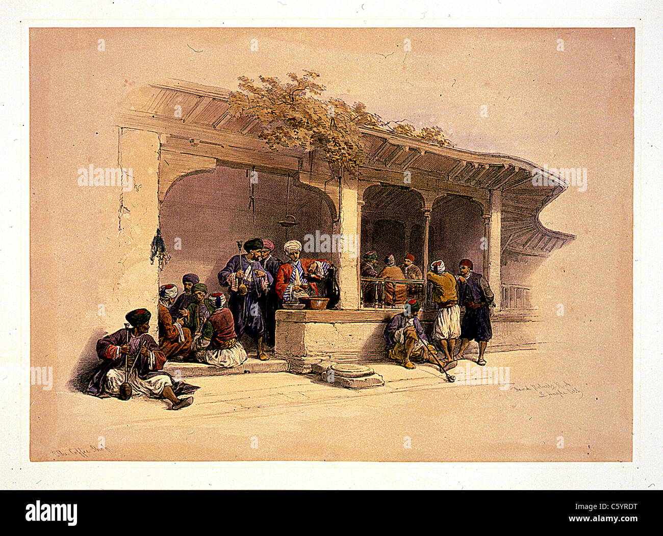 roberts coffee stock photos roberts coffee stock images alamy the coffee shop cairo david roberts and louis haghe lithograph stock image