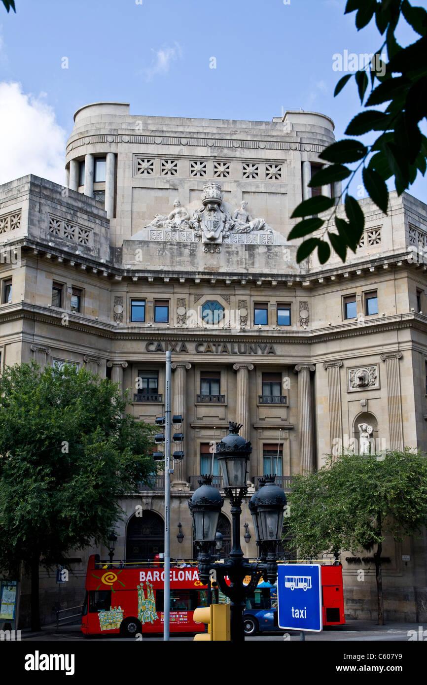 Caixa catalunya bank in barcelona spain stock photo for Oficina caixa catalunya barcelona