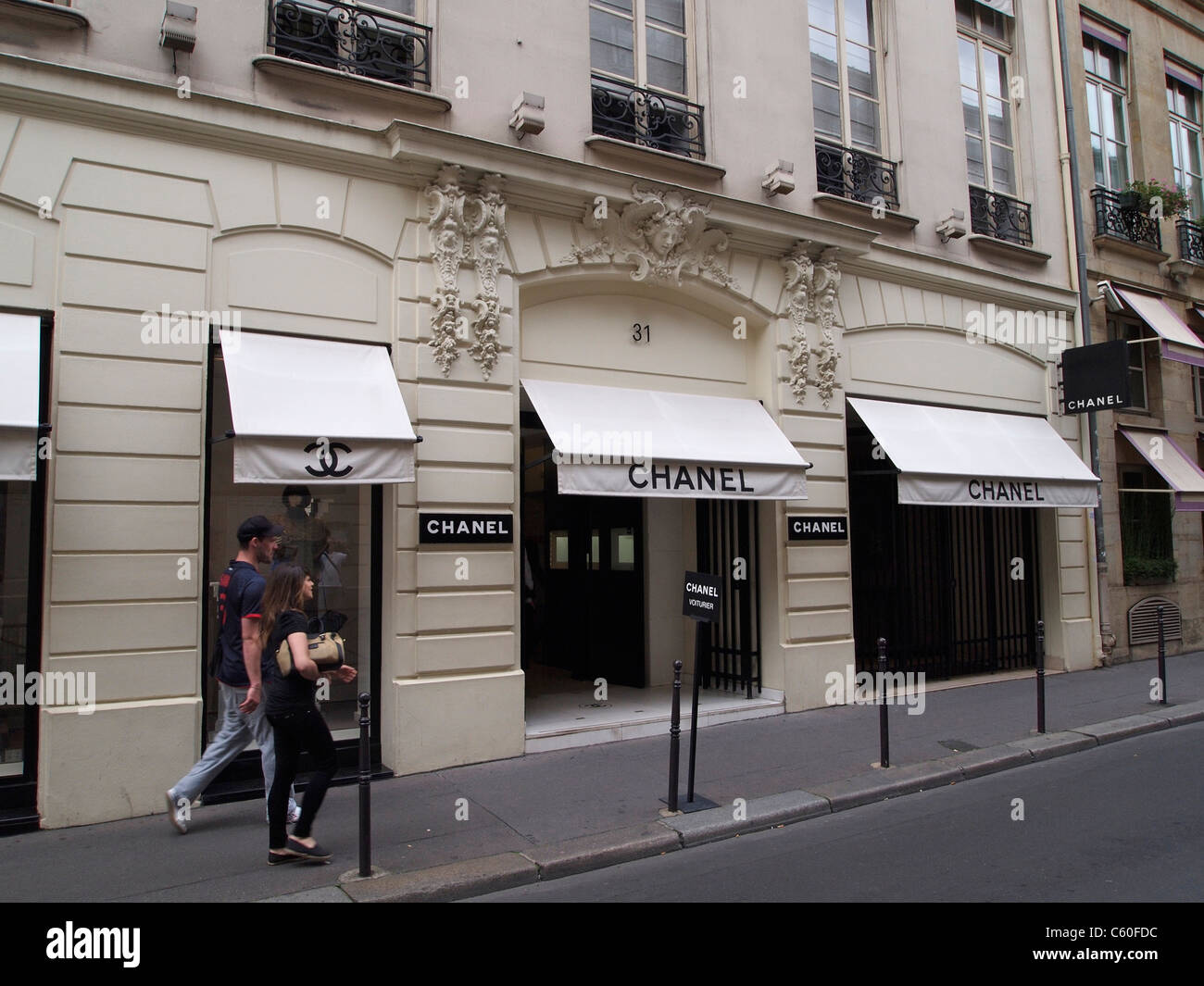 chanel 31 rue cambon paris. stock photo - the famous chanel shop rue cambon 31 in paris, france. this fashion was founded by coco 1915 paris r