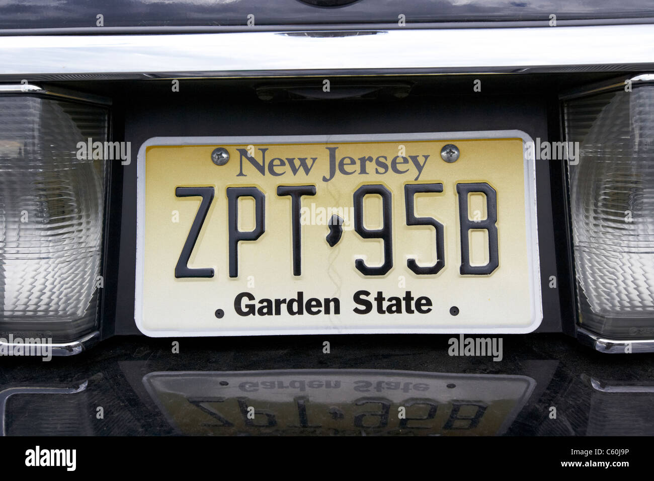 new jersey garden state vehicle license plate state usa Stock ...
