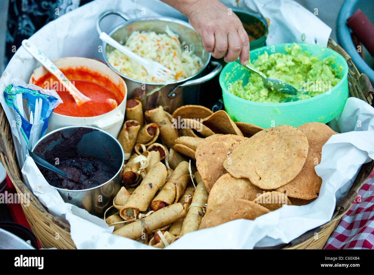Street food antigua guatemala stock photo royalty free for Antiguan cuisine