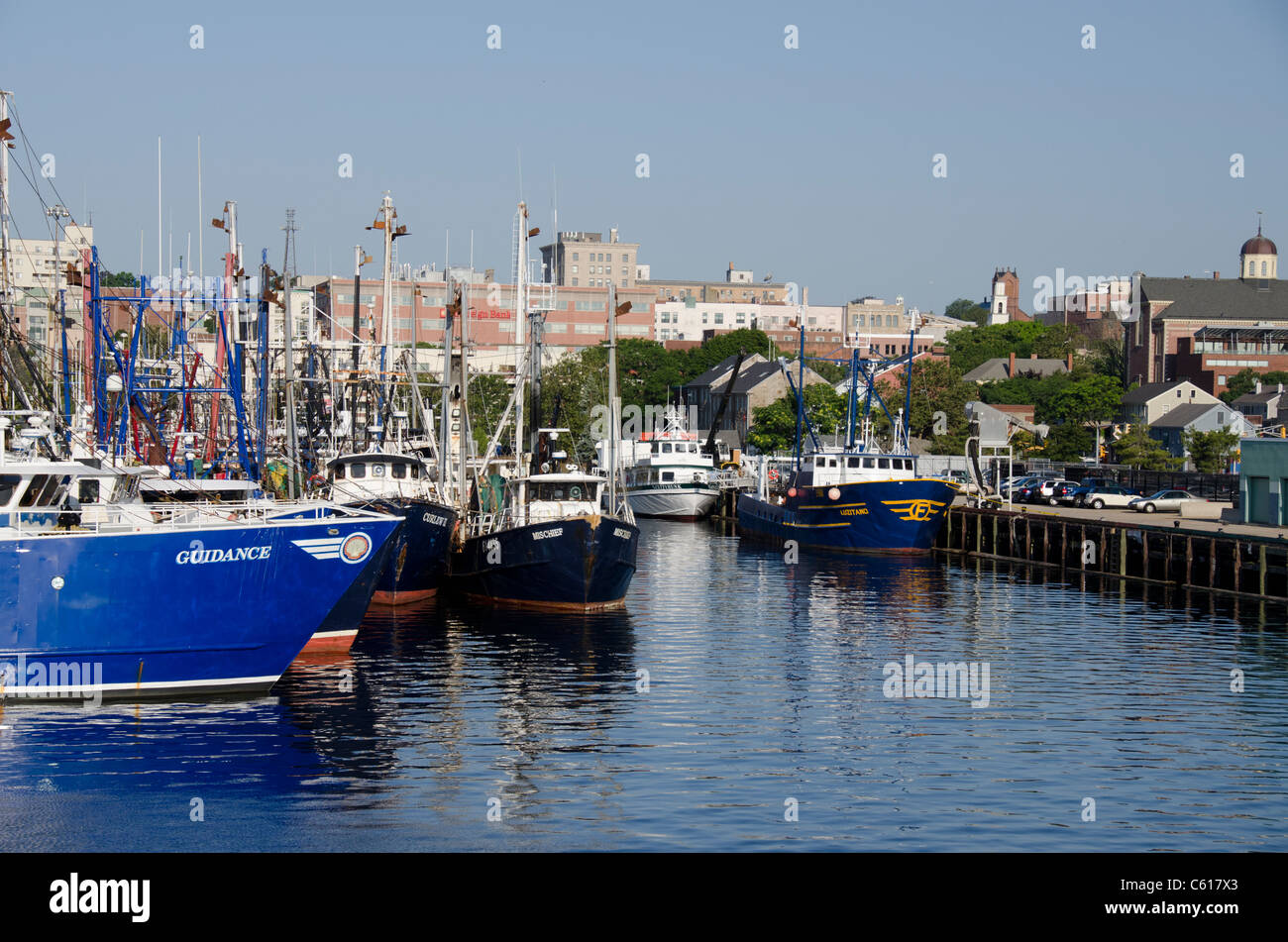 Massachusetts new bedford waterfront view of new bedford for Mass commercial fishing