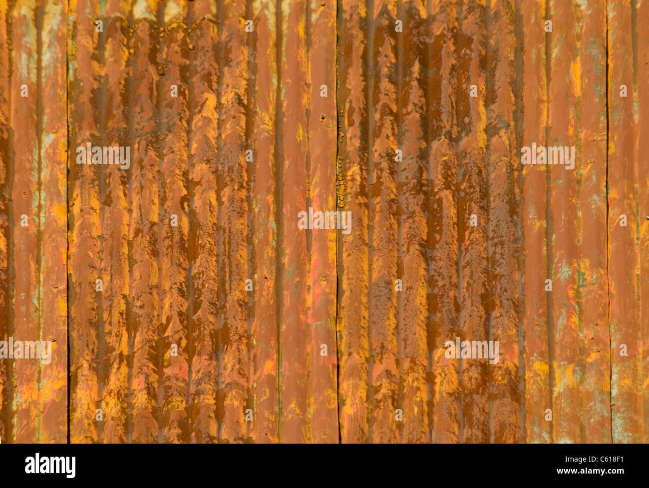 Rusty Corrugated Metal Roof Panel
