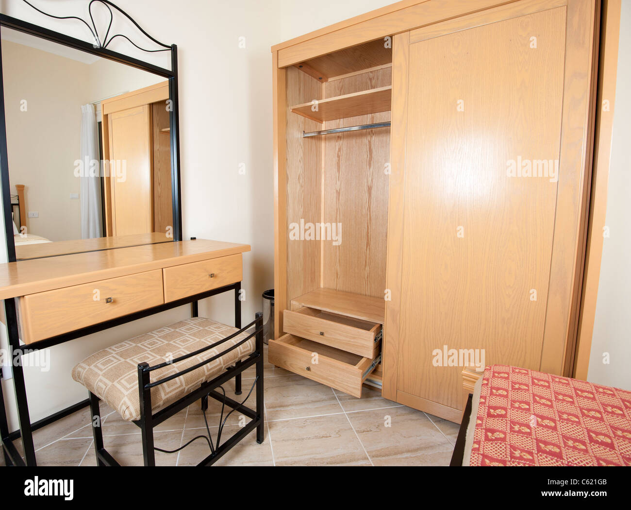 Bedroom dressing table with mirror - Interior Design Dressing Table With Mirror And Wardrobe In A Bedroom